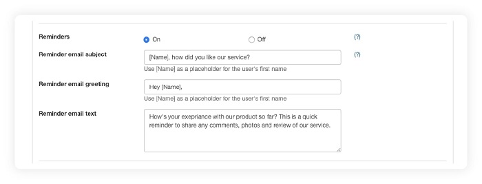 how to remind shopify customers for leaving a review or feedback