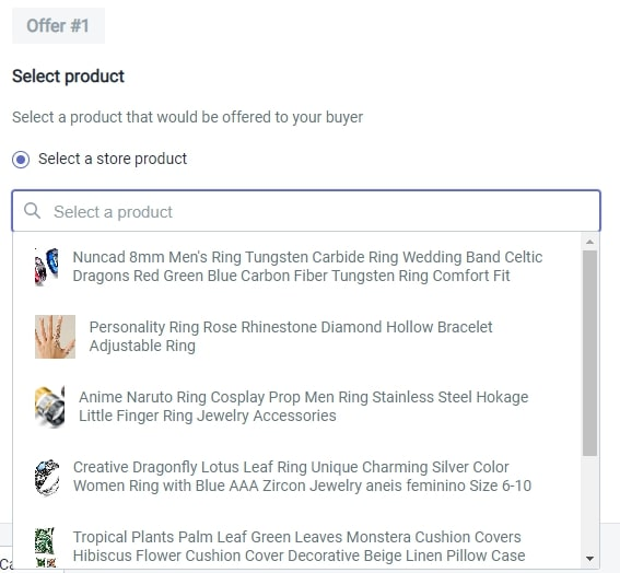 Product selection in Honeycomb Shopify App