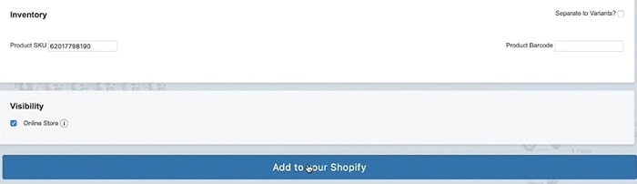 add products to shopify from alibaba