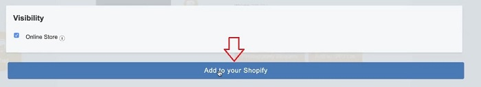 add to your Shopify button on Importify