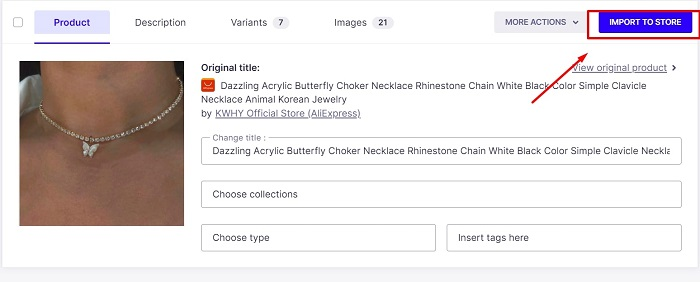 finally import aliexpress products to shopify