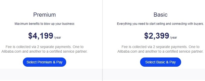how much does alibaba costs?