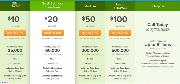 How much does Lucky Orange Shopify App Cost?
