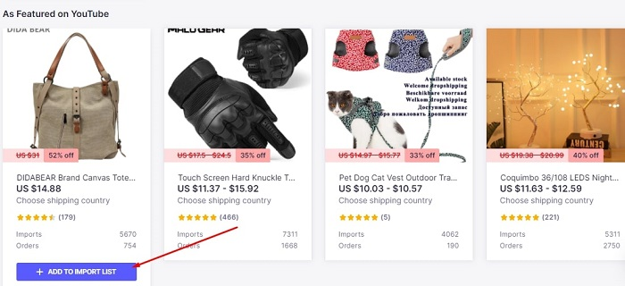 How to import Oberlo products for dropshipping