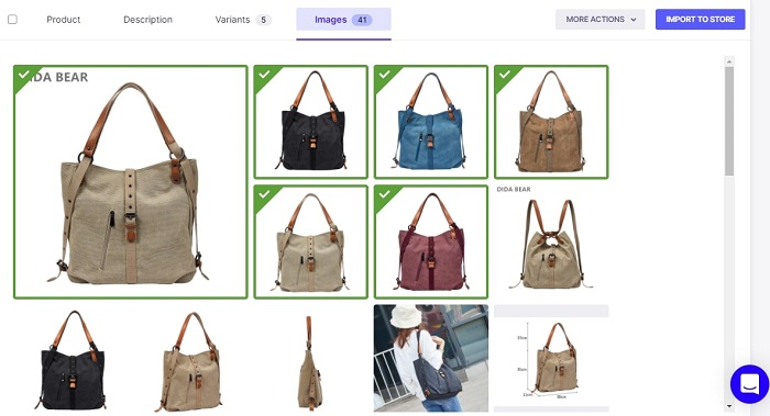 How to select product images in Oberlo