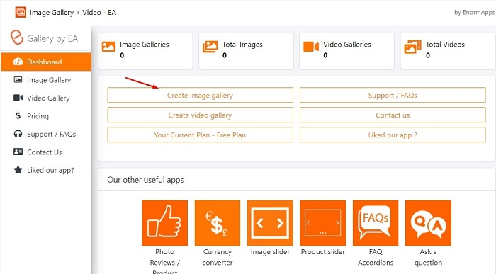 image video gallery dashboard review
