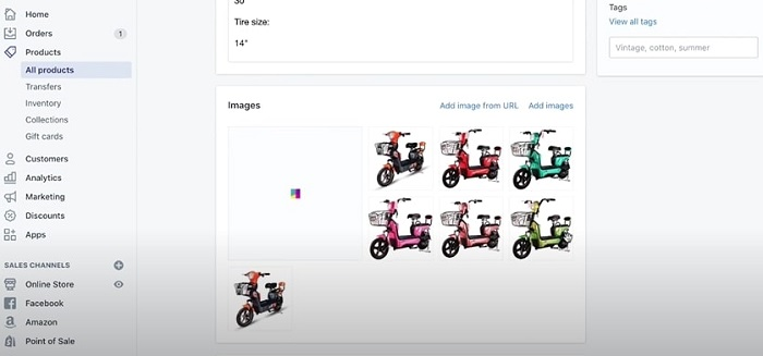 importify image selection