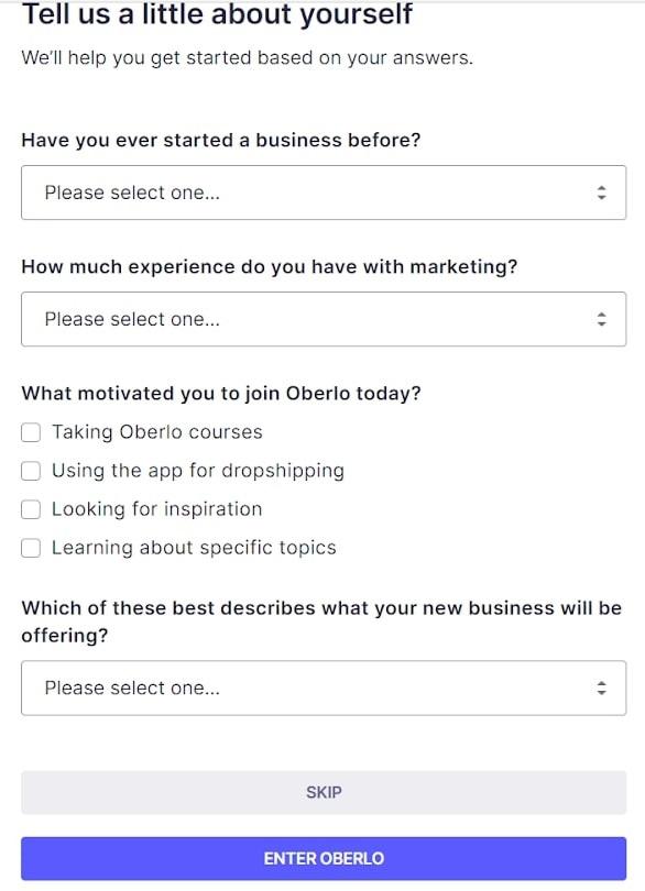 register on oberlo chrome extension on oberlo.com