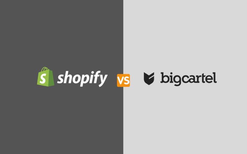 Bigcartel ecommerce platform vs shopify