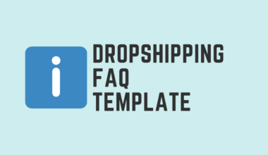 Dropshipping FAQ Template Post Cover