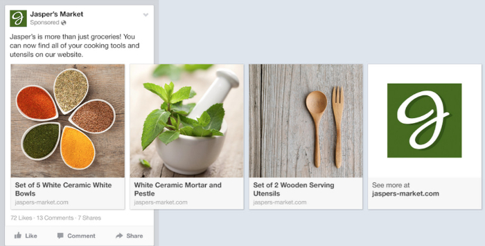 best facebook ads example for ecommerce