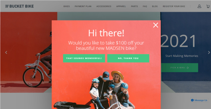 bike store example for shopify