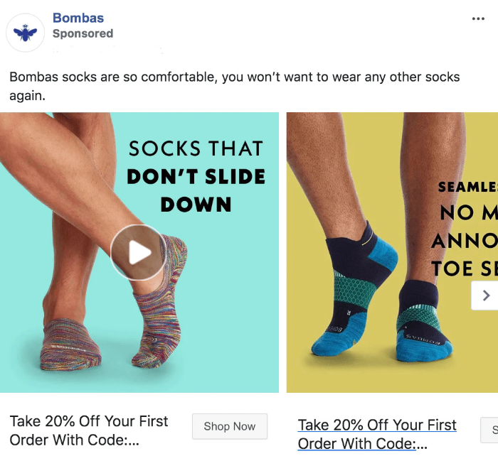 bombas facebook ad images
