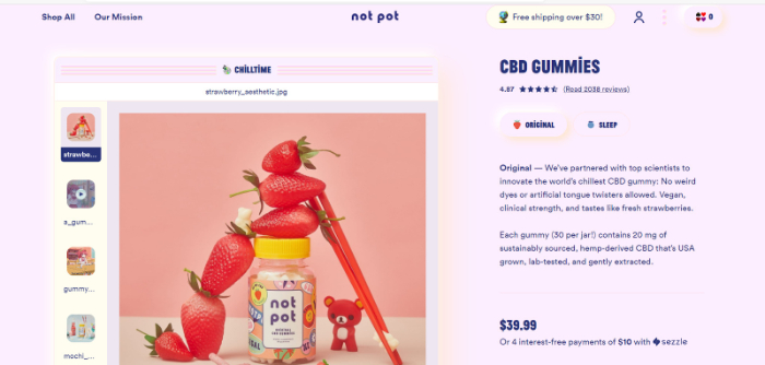 cbd gummies store example for shopify