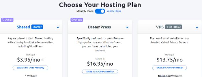 dreamhost hosting for WordPress eCommerce website
