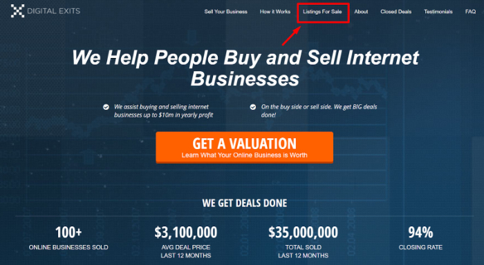 find ecommerce business for sale on digital exits