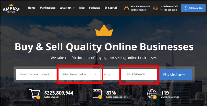 find ecommerce business for sale on empire flippers