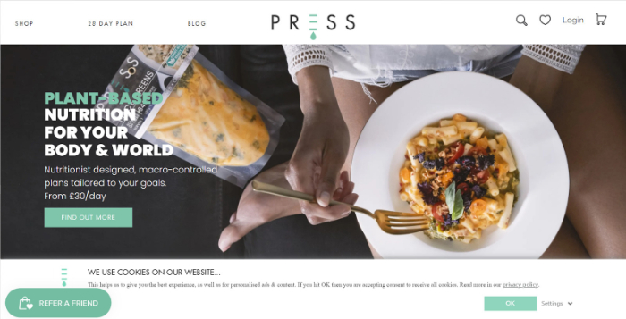 food shopify store example