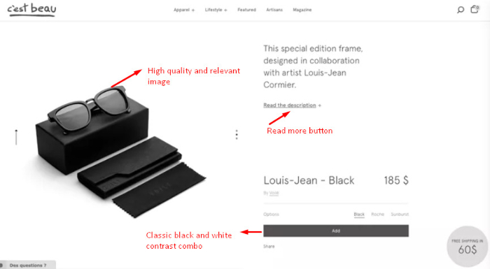 how to add a great product specifications in shopify