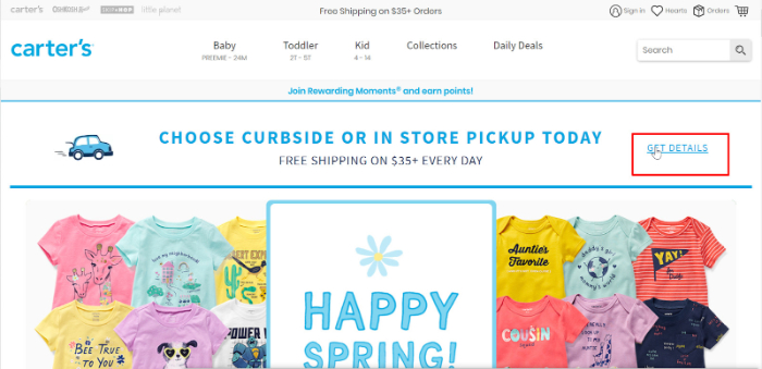 in shipping banners or announcements for shopify