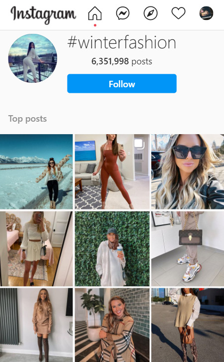look for trends on instagram to dropship clothes