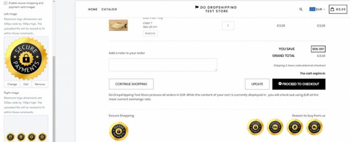 manual way to add a trust badge to your product pages