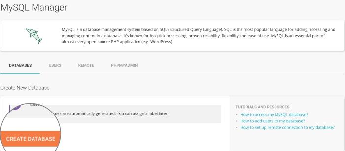 mysql database in siteground