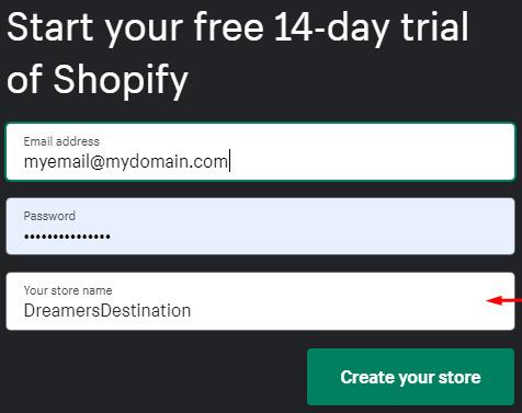 register on shopify