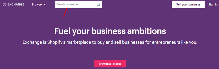 search businesses on exchange to find ecommerce business for sale