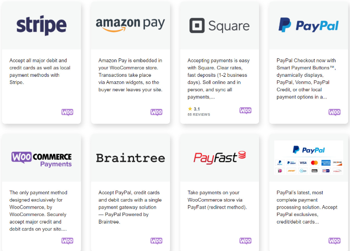 set up payment page with woocommerce
