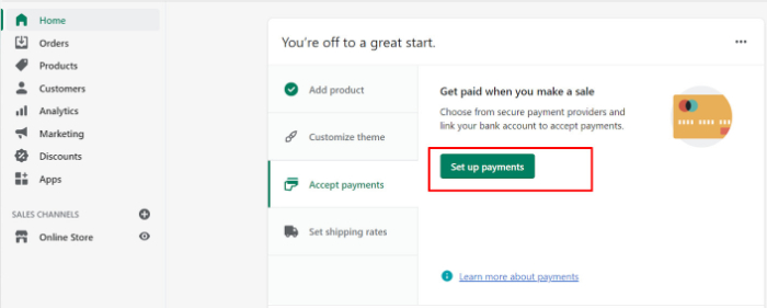 shopify billing method