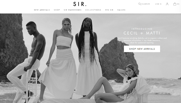 sir clothes dropshipping store