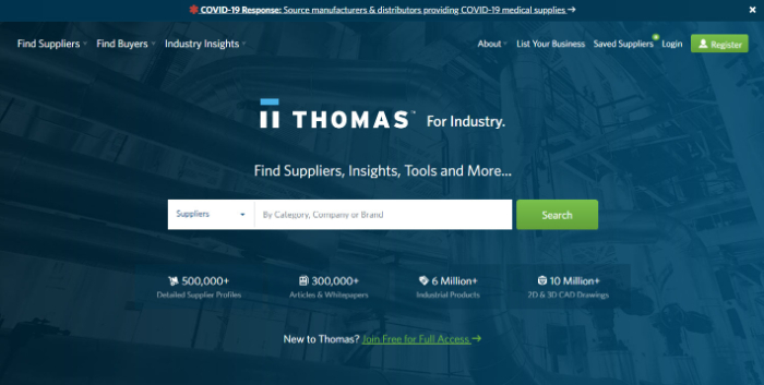 thomasnet private label dropshipping products suppliers