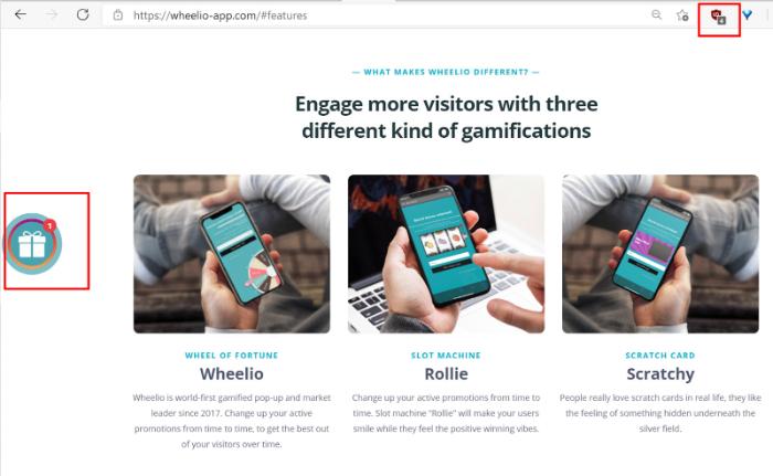 wheelio app gift icon