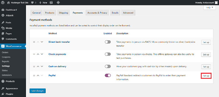 fill up inventory detailes on woocommerce