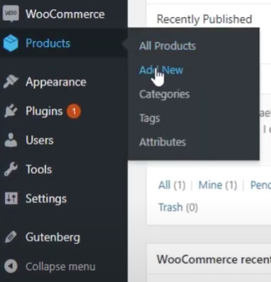 wordpress product section