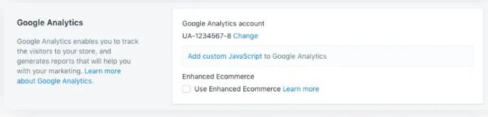 add google analytics tracking code to shopify