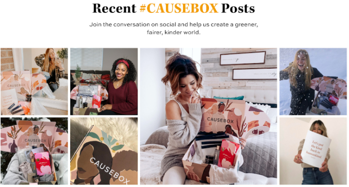causebox social proof example