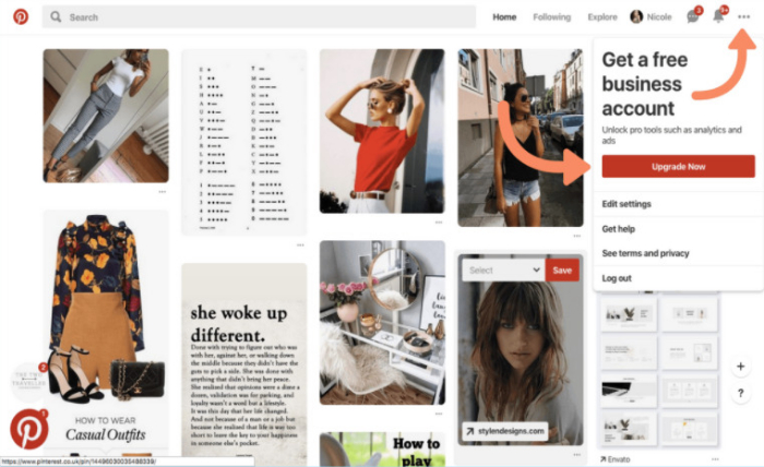 create a business account for pinterest marketing