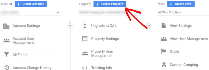 go to properties in google analytics for google tag manager shopify integration
