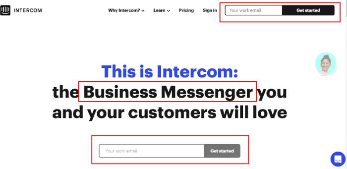 intercom webpage