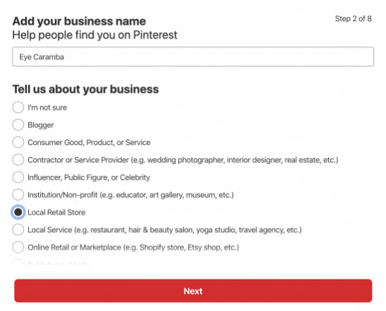 link your social media account to pinterest