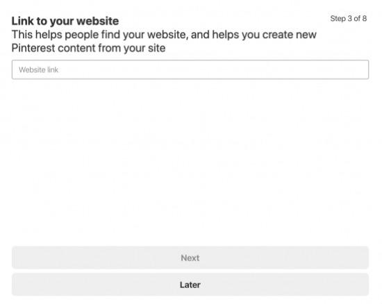 link your website to pinterest