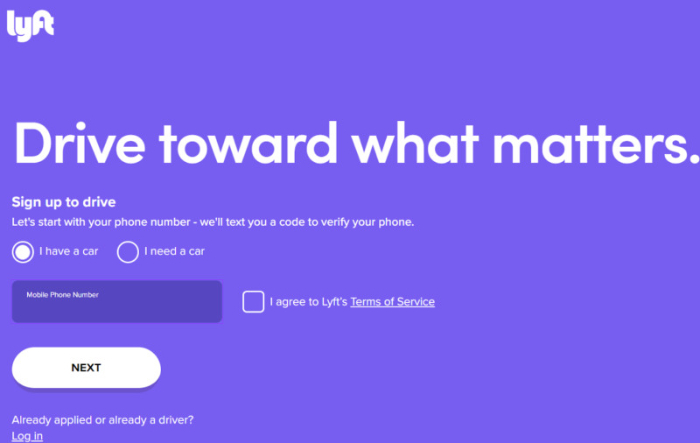 lyft landing page example below the fold content