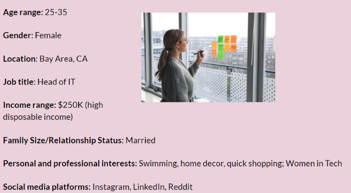 make a buyer persona when starting an online business