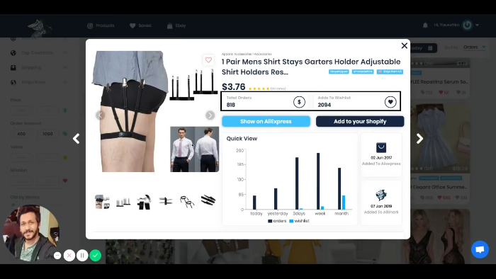 add product to Shopify