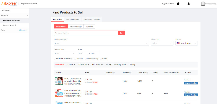 aliexpress dropshipping product research tool