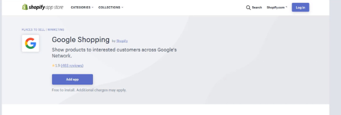 download google shopping shopify app