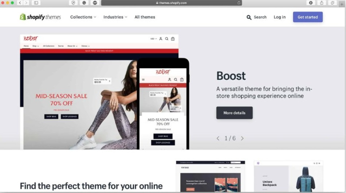 get themes from the shopify theme store