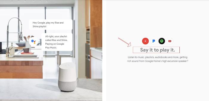 google home product description example